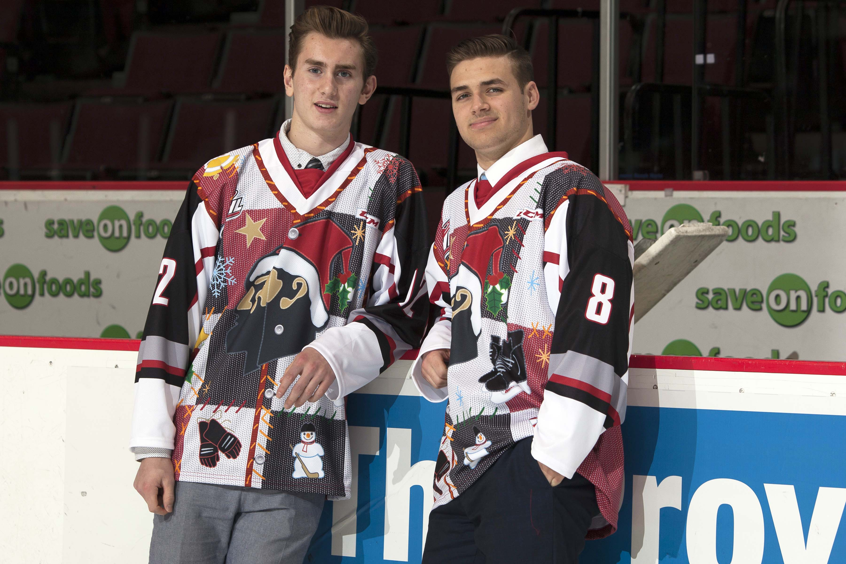 Vancouver Giants Model Ugly Christmas Sweater Jerseys - December 3 ... aed0ab3ce