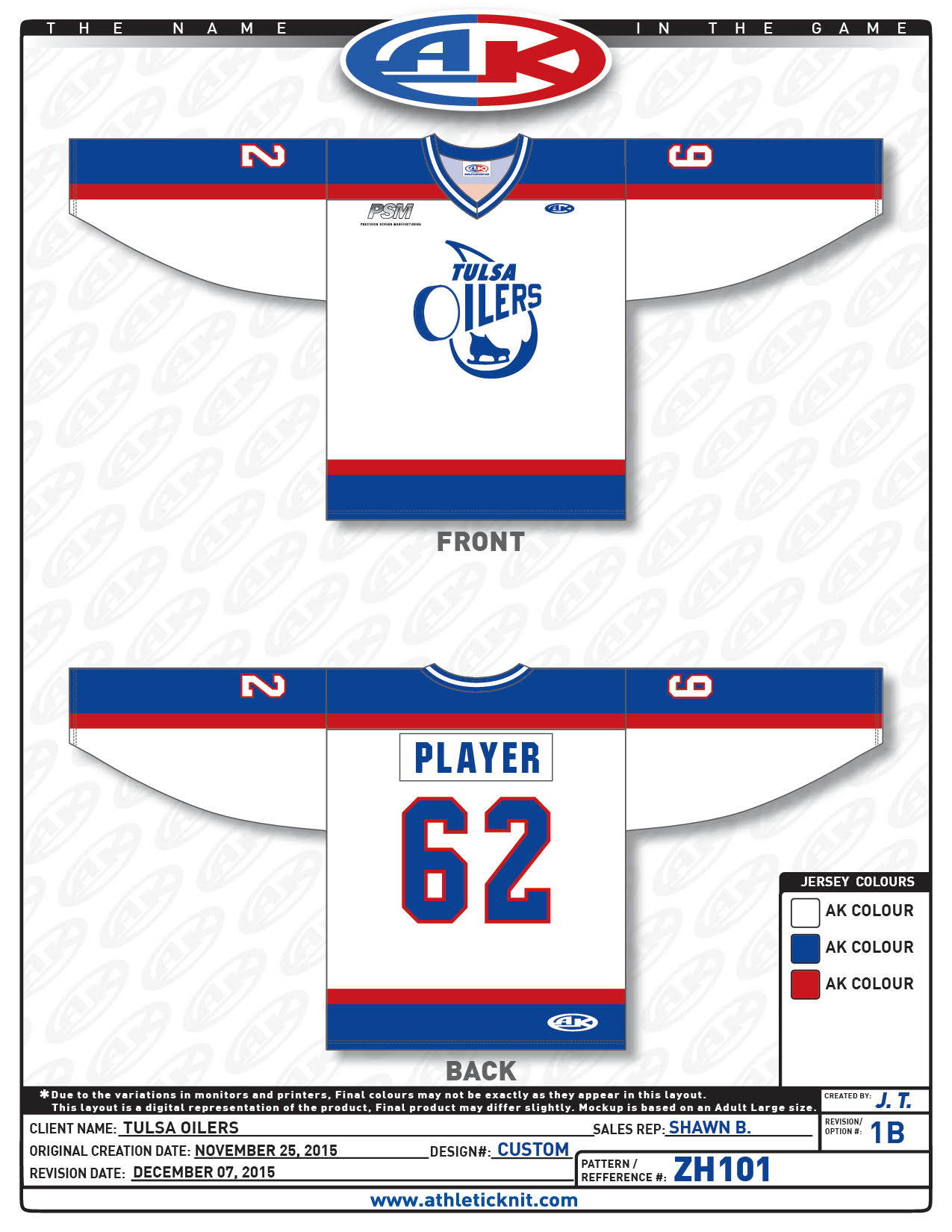 2049855f582 Tulsa Oilers Retro Jersey - January 6, 2016 Photo on OurSports Central