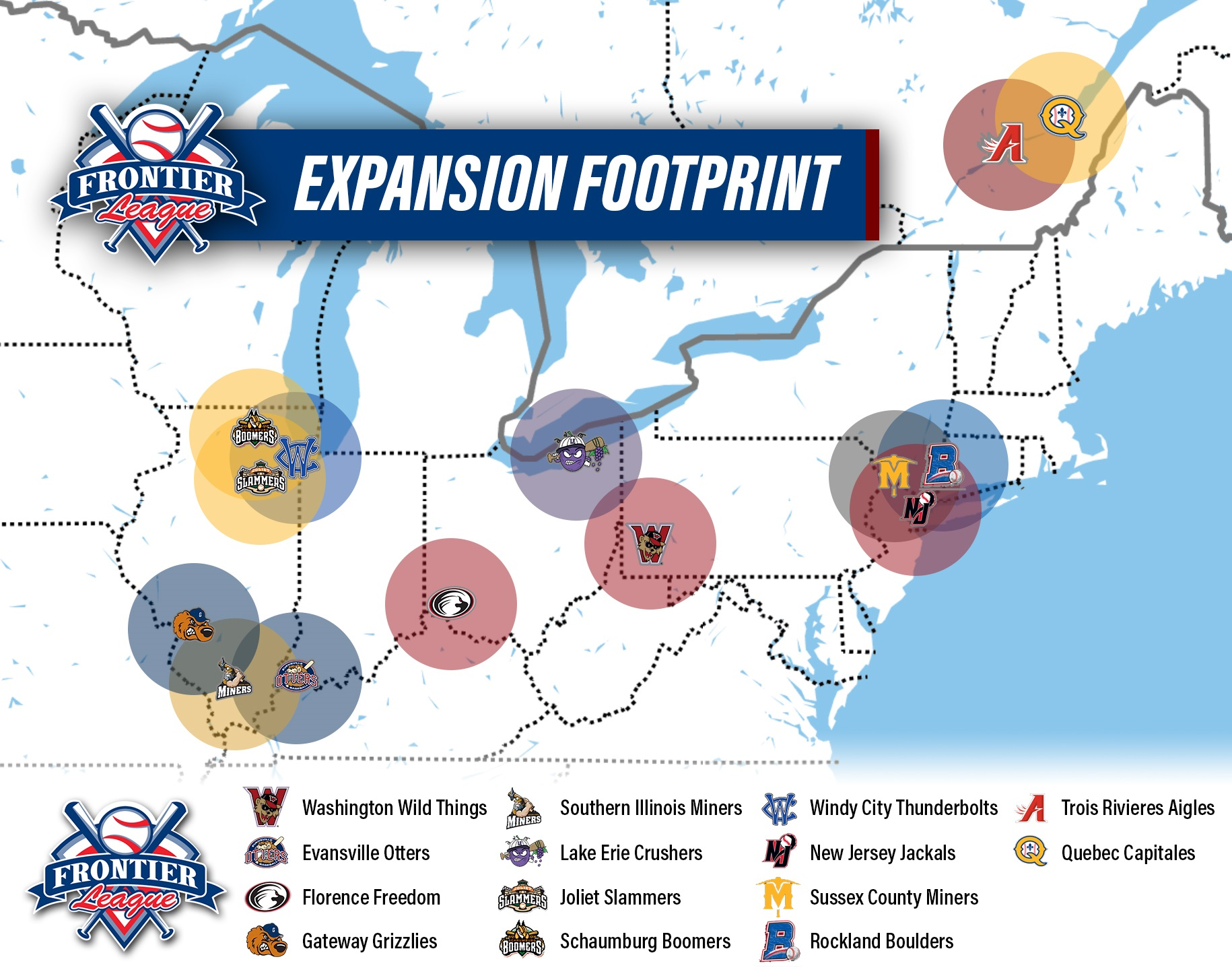 Frontier League map - October 16, 2019 Photo on OurSports ... on boundary map, freedom map, allegiant map, old west map, mercer map, supreme map, ata map, sun country map, empire map, at&t map, lakota map, pathfinder map, pierce map, dateline map, union map, dickinson map, air canada map, erie map, asiana map, quest map,