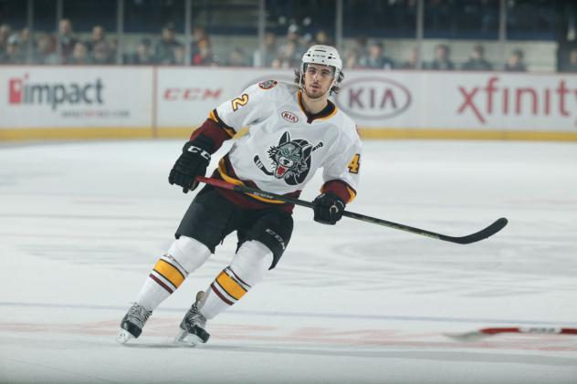 Jake Chelios of the Chicago Wolves