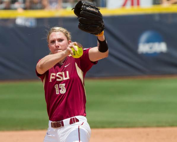 Pitcher Lacey Waldrop of Florida State University