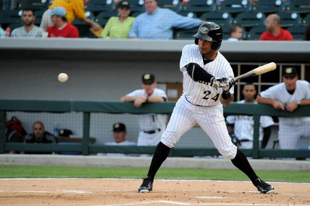 Leury Garcia of the Charlotte Knights