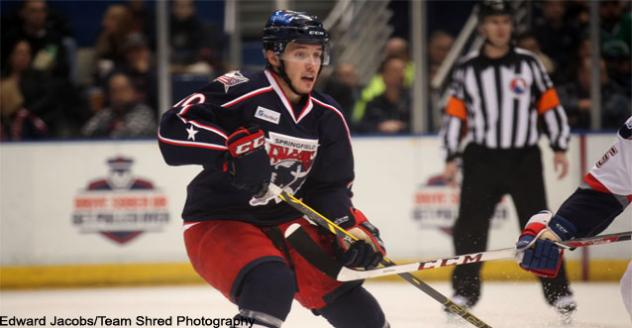 Forward Marko Dano of the SpringfieldFalcons