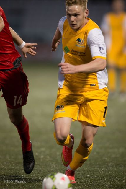 Tyler Pasher of the Pittsburgh Riverhounds