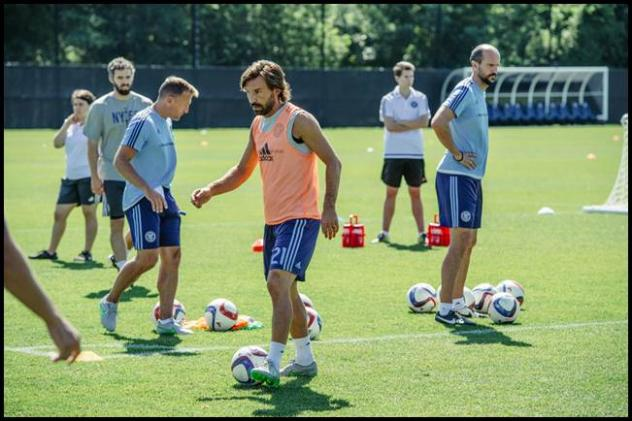 Andrea Pirlo Trains with New York City FC