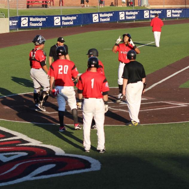 David Popkins Crosses the Plate for the Washington Wild Things