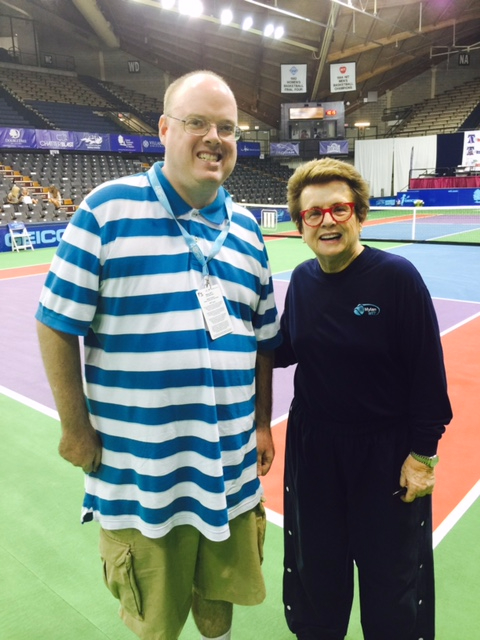 Fran Stuchbury and Billie Jean King