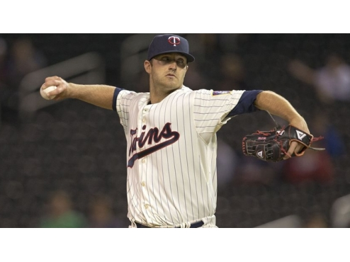 A.J. Achter with the Minnesota Twins