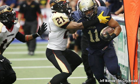 Running Back Andrew Pierce with the Tri-Cities Fever