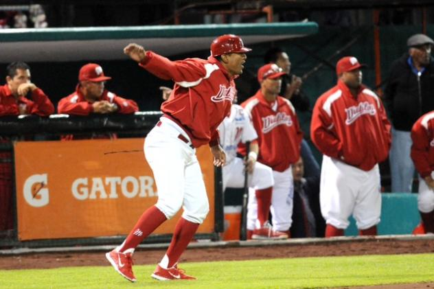 Miguel Ojeda Managing the Diablos Rojos in the Mexican League