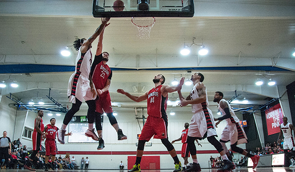 Justin Moss of the Orangeville A's Shoots vs. the Windsor Express