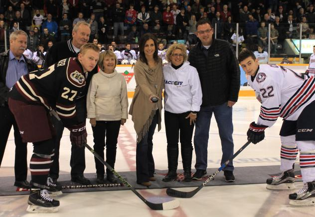 Peterborough Petes and Oshawa Generals Faceoff against Dementia