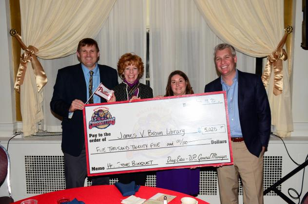 Williamsport Crosscutters Present Check to James V. Brown Library