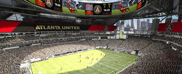 Projected View of Atlanta United Game