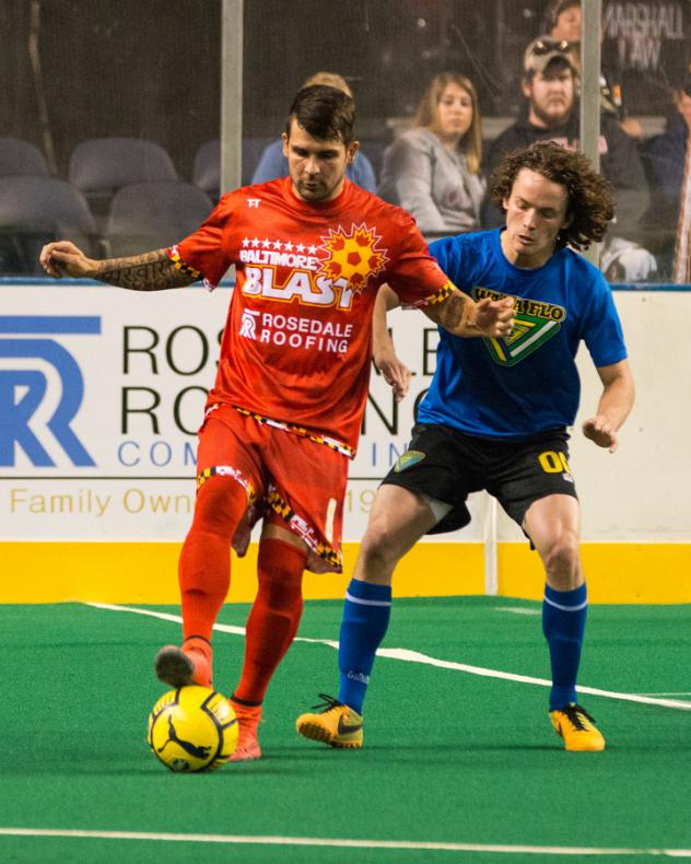 Baltimore Blast Forward Lucas Roque Controls the Ball against Waza Flo