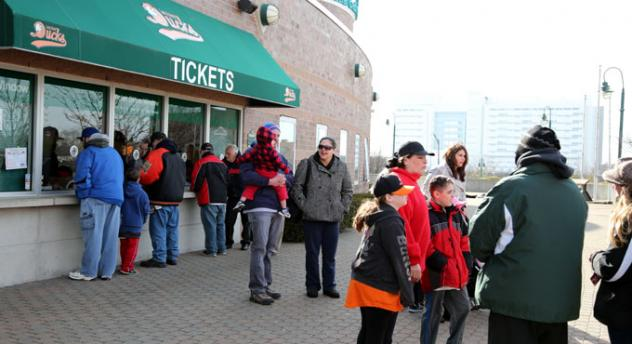 Long Island Ducks Opening Day of Ticket Sales