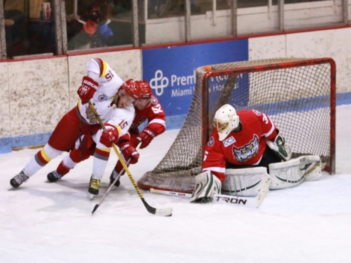 Dayton Demolition Skate in on the Port Huron Prowlers