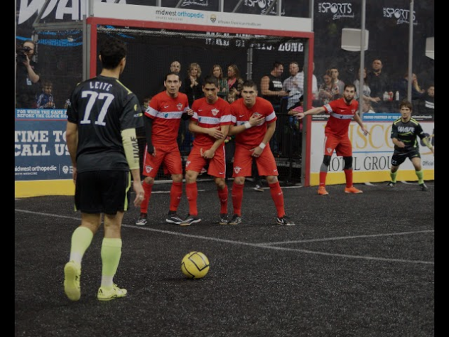 Milwaukee Wave Prepare for a Free Kick vs. the Chicago Mustangs