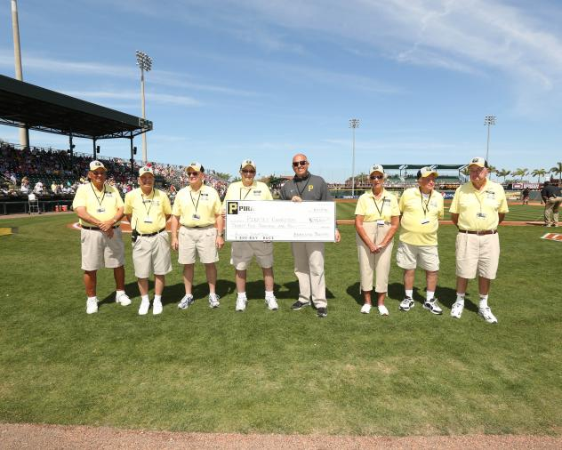 Bradenton Boosters Present Check to Pirates Charities