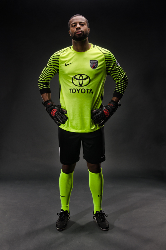 Josh Ford of San Antonio FC Models Team's Goalkeeper Jersey