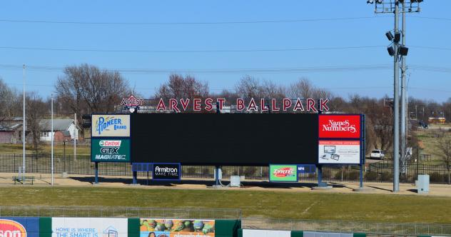 The New Video Board at Arvest Ballpark, Home of the Northwest Arkansas Naturals