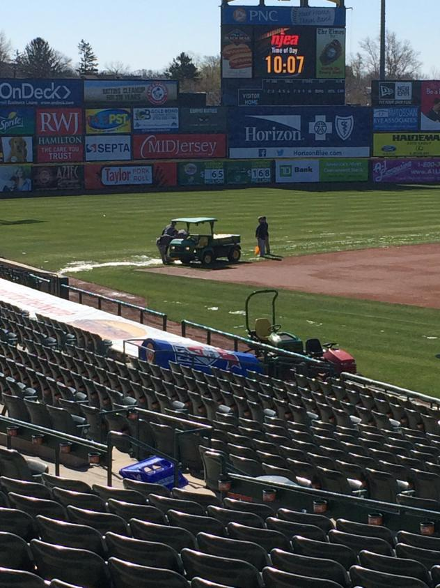 Ice Removal Finishes at ARM & HAMMER Park, Home of the Trenton Thunder