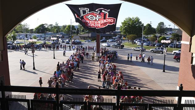 Fans Enter Dickey-Stephens Park, Home of the Arkansas Travelers