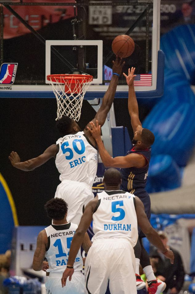 Texas Legends Center Micheal Eric in Action
