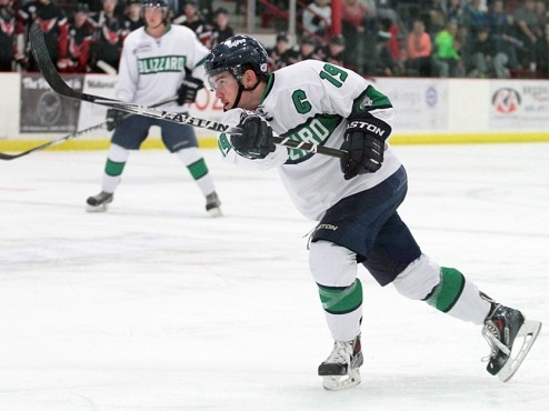 Connor Hutchins of the Brookings Blizzard