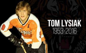 Tom Lysiak with the Medicine Hat Tigers