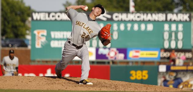 Tim Lincecum Pitching for the Salt Lake Bees