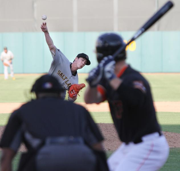Tim Lincecum of the Salt Lake Bees Delivers vs. the Fresno Grizzlies