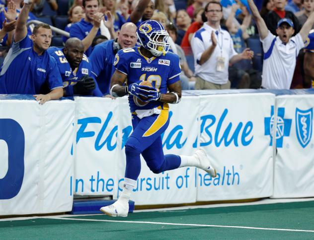 Tampa Bay Storm Wide Receiver and Kick Returner Michael Lindsey
