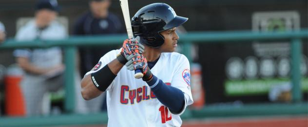 Enmanuel Zabala of the Brooklyn Cyclones