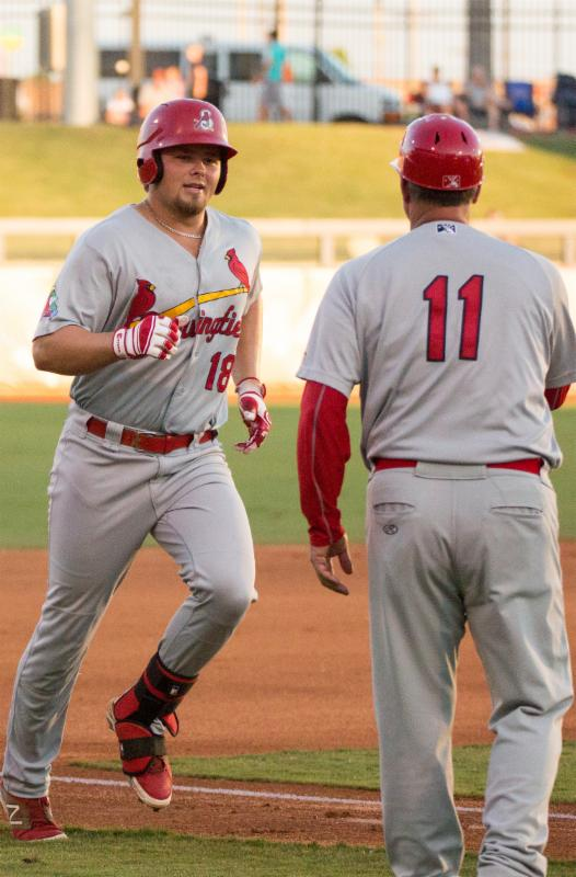Luke Voit of the Springfield Cardinals