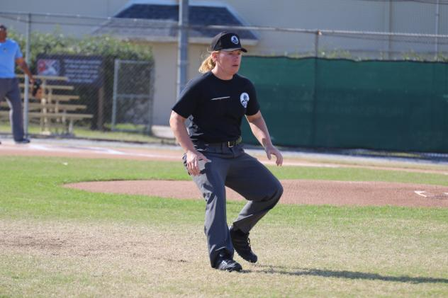 Gulf Coast League Umpire Jen Pawol in Action