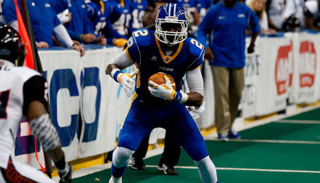 WR Julius Gregory with the Tampa Bay Storm