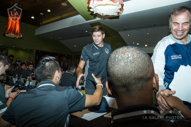 Bruce Arena and Steven Gerrard Congratulate Newly Signed LA Galaxy SOSC Unified Team Members