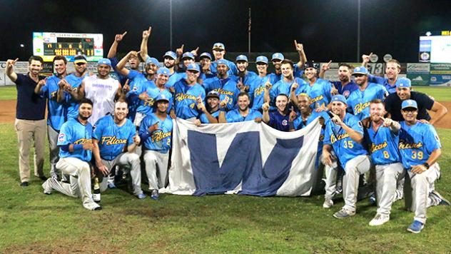 Pelicans Win 5-3 for Second Straight Carolina League Championship