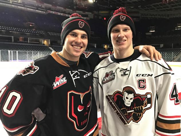 CALGARY HITMEN over $2,000 Raised Through Stukes' Toques and Zipp's Mitts in Support of Project Warmth