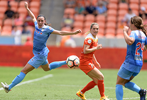Kealia Ohai Looks to Continue Her Hot Streak as Houston Dash Visit the Chicago Red Stars in the NWSL Game of the Week on Lifetime