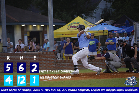 Sharks Fall at Home to Fayetteville 5-4
