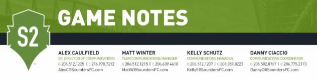 GAME NOTES: Sounders FC 2 at Tulsa Roughnecks FC - October 7, 2017