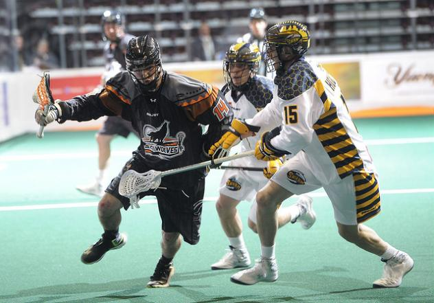 Forward Pat Saunders with the New England Black Wolves