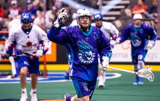 Austin Shank of the Rochester Knighthawks