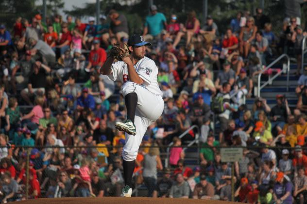 St. Cloud Rox Pitcher Carlo Graffeo on the Mound