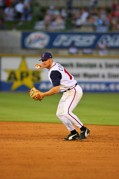 Brooks Conrad with the Round Rock Express