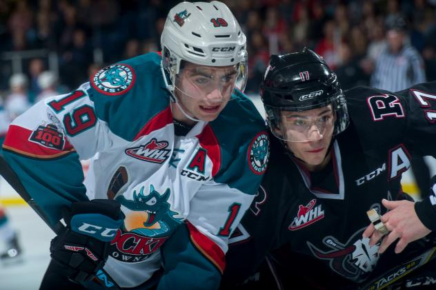 Kelowna Rockets Battle the Red Deer Rebels