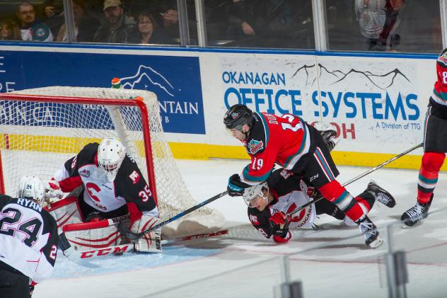 Kelowna Rockets Forward Dillon Dube against the Prince George Cougars