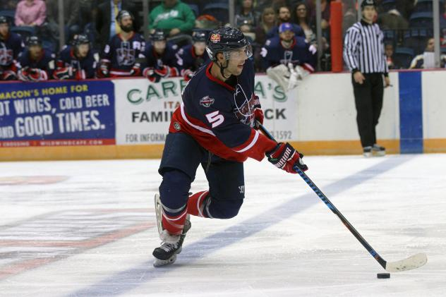 Macon Mayhem Defenseman Brandon Pfeil